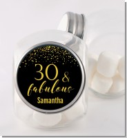 30 & Fabulous Speckles - Personalized Birthday Party Candy Jar