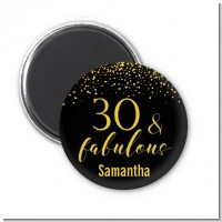 30 & Fabulous Speckles - Personalized Birthday Party Magnet Favors