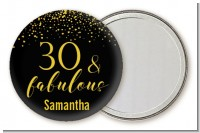 30 & Fabulous Speckles - Personalized Birthday Party Pocket Mirror Favors