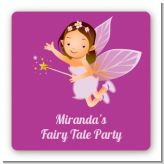 Fairy Princess - Square Personalized Birthday Party Sticker Labels