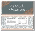 Grey & Orange - Personalized Bridal Shower Candy Bar Wrappers thumbnail