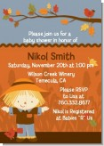 Scarecrow Fall Theme - Baby Shower Invitations