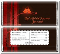 Fall Love Birds - Personalized Bridal Shower Candy Bar Wrappers