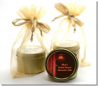 Fall Love Birds - Bridal Shower Gold Tin Candle Favors