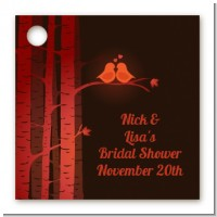 Fall Love Birds - Personalized Bridal Shower Card Stock Favor Tags