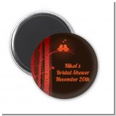 Fall Love Birds - Personalized Bridal Shower Magnet Favors