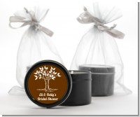 Fall Tree - Bridal Shower Black Candle Tin Favors