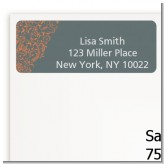 Grey & Orange - Bridal Shower Return Address Labels