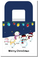 Snowman Family with Lights - Personalized Christmas Favor Boxes