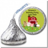 Farm Animals - Hershey Kiss Birthday Party Sticker Labels
