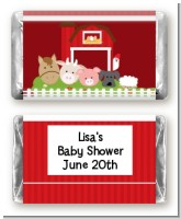 Farm Animals - Personalized Baby Shower Mini Candy Bar Wrappers