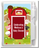 Farm Animals - Baby Shower Personalized Notebook Favor