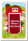 Farm Animals - Custom Large Rectangle Baby Shower Sticker/Labels