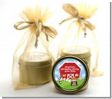 Farm Boy - Birthday Party Gold Tin Candle Favors