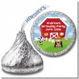 Farm Boy - Hershey Kiss Birthday Party Sticker Labels