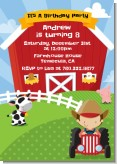 Farm Boy - Birthday Party Invitations