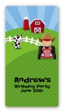 Farm Boy - Custom Rectangle Birthday Party Sticker/Labels