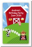 Farm Boy - Custom Large Rectangle Birthday Party Sticker/Labels
