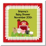 Farm Animals - Personalized Baby Shower Card Stock Favor Tags