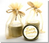 Faux Gold and Yellow Stripes - Baby Shower Gold Tin Candle Favors
