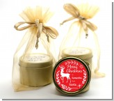 Festive Antlers - Christmas Gold Tin Candle Favors