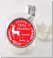 Festive Antlers - Personalized Christmas Candy Jar