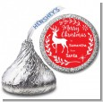 Festive Antlers - Hershey Kiss Christmas Sticker Labels thumbnail