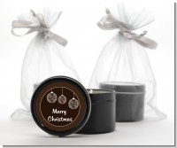 Festive Ornaments - Christmas Black Candle Tin Favors
