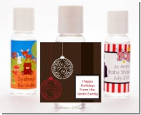 Festive Ornaments - Personalized Christmas Hand Sanitizers Favors