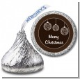 Festive Ornaments - Hershey Kiss Christmas Sticker Labels thumbnail