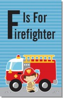 Future Firefighter - Personalized Birthday Party Wall Art