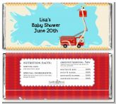 Fire Truck - Personalized Baby Shower Candy Bar Wrappers