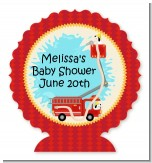Fire Truck - Personalized Baby Shower Centerpiece Stand