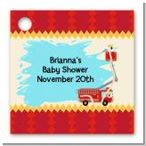 Fire Truck - Personalized Baby Shower Card Stock Favor Tags