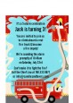 Fire Truck - Baby Shower Petite Invitations thumbnail