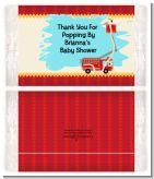 Fire Truck - Personalized Popcorn Wrapper Baby Shower Favors