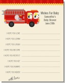 Fire Truck - Baby Shower Wishes For Baby Card