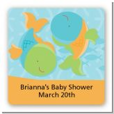 Fish | Pisces Horoscope - Square Personalized Baby Shower Sticker Labels