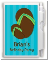 Flip Flops Boy Pool Party - Birthday Party Personalized Notebook Favor