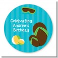 Flip Flops Boy Pool Party - Personalized Birthday Party Table Confetti thumbnail