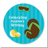 Flip Flops Boy Pool Party - Personalized Birthday Party Table Confetti