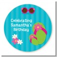 Flip Flops Girl Pool Party - Personalized Birthday Party Table Confetti thumbnail