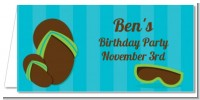 Flip Flops Boy Pool Party - Personalized Birthday Party Place Cards