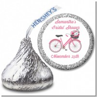 Floral Bicycle - Hershey Kiss Bridal Shower Sticker Labels