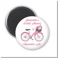 Floral Bicycle - Personalized Bridal Shower Magnet Favors