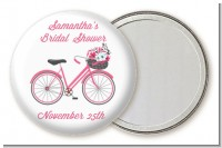 Floral Bicycle - Personalized Bridal Shower Pocket Mirror Favors
