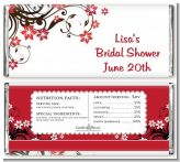 Floral Blossom - Personalized Bridal Shower Candy Bar Wrappers