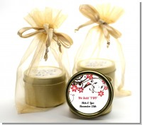 Floral Blossom - Bridal Shower Gold Tin Candle Favors