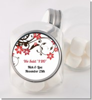 Floral Blossom - Personalized Bridal Shower Candy Jar