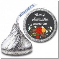 Floral Motif - Hershey Kiss Bridal Shower Sticker Labels